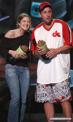 with Adam Sandler at the MTV Movie Awards in 2004