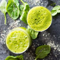 A quick, immune boosting green citrus smoothie.   1 large handful Spinach 1 thumb sized Piece of Ginger 2 Medjool Dates 2 Oranges (juiced) 1/2 Lemon (juiced) 1/4 tsp Turmeric Powder