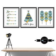 Nursery Prints Boys prints Bedroom  Wall от LaPaperPassionPrints