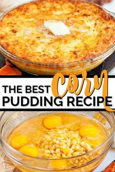 Creamy and so simple to make, this corn pudding recipe is a family favorite that we all love. Its easy to make from scratch and offers yummy flavor that youll want seconds of. Creamed Corn Casserole Recipe, Corn Pudding Casserole, Easy Corn Pudding, Sweet Corn Pudding, Creamy Corn Casserole, Cornbread Pudding, Corn Pudding Recipes, Easy Casserole Recipes, Jiffy Cornbread