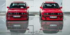 BMW E30 3 series red duo