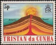 Volcanoes, Commonwealth, Geology, Postage Stamps, Natural, British, Island, World, Cunha
