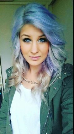 Manic panic ultra violet diluted semi permanent  hair dye Unnatural Hair Color, Semi Permanent Hair Dye, Ultra Violet, Dyed Hair, Locks, Lashes, Manic Panic, Long Hair Styles, Babe
