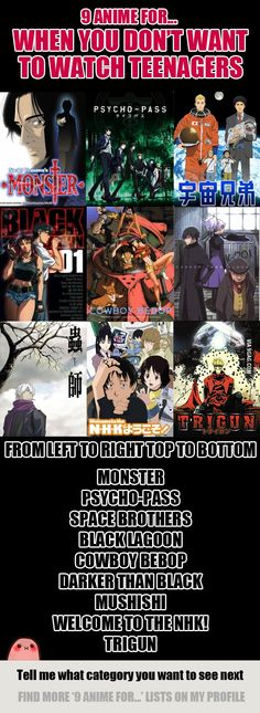 9 Anime For When You Don't Want To Watch Teenagers - 9GAG