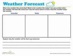 Worksheets: Predicting Weather