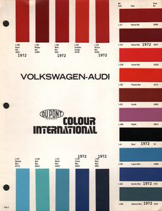 Original VW Beetle Paint Schemes | 66 bug project | Vw ...