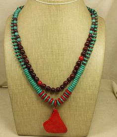 """20"""" Ethnic multi strands necklace/mix color howlite beads/(g210-w3) #Handmade #Statement"""