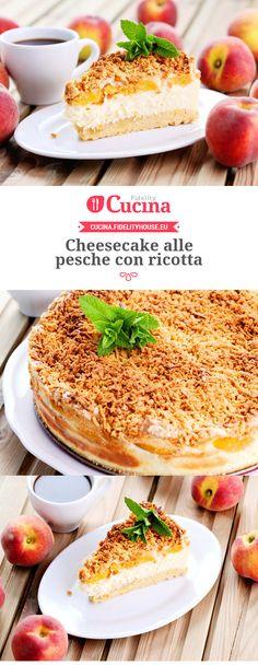 #Cheesecake alle #pesche con #ricotta