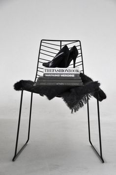 shoes. chair. book.