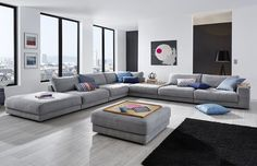 Sofa Y Sillones Design. Modern Furniture Sofa Set Leather Sectional Sofa Home . Home and Family Living Room Sofa Design, Living Room Grey, Living Room Modern, Interior Design Living Room, Living Room Designs, Piece A Vivre, Lounge Areas, Sofa Set, Lounge Sofa