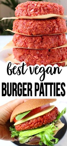 The best homemade vegan veggie patties recipe with beets, brown rice and protein loaded soy curls or TVP crumbles. Easy, meaty and hearty, skip the oil and make it totally whole foods plant based compliant. Best Vegan Recipes, Whole Food Recipes, Vegetarian Recipes, Healthy Recipes, Vegetarian Grilling, Healthy Grilling, Homemade Vegan Burgers, Vegan Veggie Burger, Hamburger Vegetarien