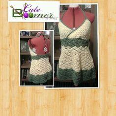 Crochet Mini Avacado sundress by Leah Eneas.