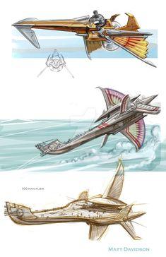Woola the Calot by ScaleyScribe on DeviantArt Fantasy Weapons, Sci Fi Fantasy, Fantasy World, Steampunk Ship, Arte Steampunk, Dirigible Steampunk, Cyberpunk, John Carter Of Mars, Flying Ship