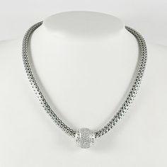 John Hardy Classic Chain Sterling Silver & Diamond Slider eJEvUIGs