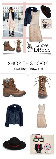 """Can't Lose What You Never Had"" by aichi ❤ liked on Polyvore featuring Steve Madden, Samsøe & Samsøe, Boohoo, Karl Lagerfeld, dress, lacedress and westlife"