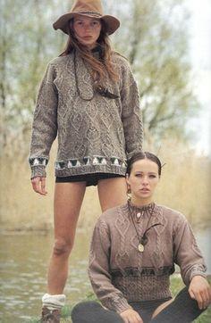 No Home, Alone: Another amaze shot of Kate Moss from the Rowan knitting catalogue Rowan Knitting, Rowan Yarn, Knitting Books, Vintage Knitting, Kate Moss, 90s Fashion, Autumn Fashion, Chunky Knitwear, Boho Hat