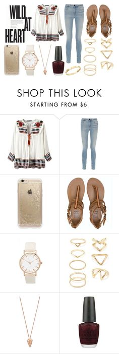 """Sin título #39"" by josefinaherr on Polyvore featuring moda, Alexander Wang, Rifle Paper Co, Billabong, Forever 21, Pamela Love, OPI y Cachet"