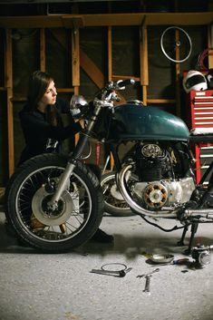 Jessica Van Dusen's 1968 Honda CB350 - on themotolady.com #motolady #motorcycles #honda
