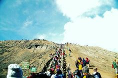 Stair to Caldera ,Mount Bromo East Java