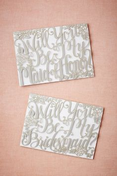 Will You Be My Maid of Honor or Bridesmaid Cards $8. Beautiful way to begin your silver wedding plans.