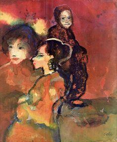 Emil Nolde, Spanische Mädchen.