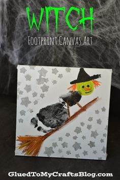 Trick or Treat Footprint Ghost Keepsake Idea For Halloween