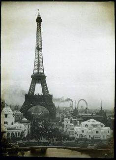 Eiffel Tower, Paris, originally created as entrance arch to 1889 World's Fair. Gustave Eiffel, Image Tour Eiffel, Old Pictures, Old Photos, Tuileries Paris, Best Vacation Destinations, Little Paris, Beautiful Paris, Old Paris