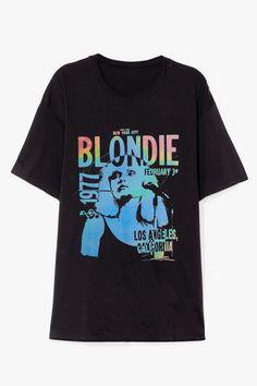 Blondie T Shirt, Vintage Tees, Vintage Graphic Tees, Graphic T Shirts, Direct To Garment Printer, V Neck T Shirt, Shirt Dress, Shirt Style, Shirt Designs