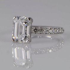 Emerald cut engagement ring                              …