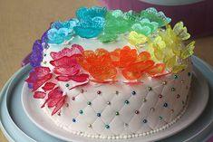 Gelatine butterflies cake