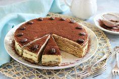 Tiramisu pancakes with mascarpone Kfc, Tiramisu Pancakes, Chimichanga, Cake Cookies, Flan, Sweet Recipes, Waffles, Bakery, Deserts