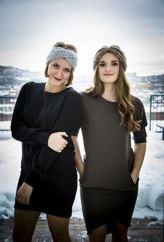 Virginie et Audrey nous montre un très beau look mélangeant bandeau de laine et robe ! Sur lecahier.com