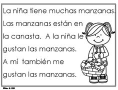 Spanish reading practice pages for emergent readers