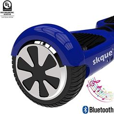Self Balancing Scooter Skque 65 I12 UL2272 Smart Two Wheel Self Balancing Electric Scooter with Bluetooth Speaker and LED Lights Blue ** You can get more details by clicking on the image. (This is an affiliate link) #Scooters