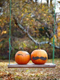 No Carve Pumpkins by familyfun: Mr. & Mrs.! #Halloween #Pumpkins #Easy