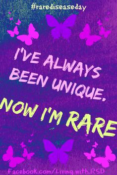 Rare Disease Day: Now I'm Rare poster
