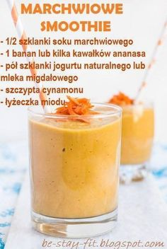 smoothie na tablicy Healthy Kitchen przypisanej do kategorii Dieta Smoothie Drinks, Smoothie Diet, Fruit Smoothies, Healthy Smoothies, Healthy Drinks, Smoothie Recipes, Helathy Food, Raw Food Recipes, Healthy Recipes