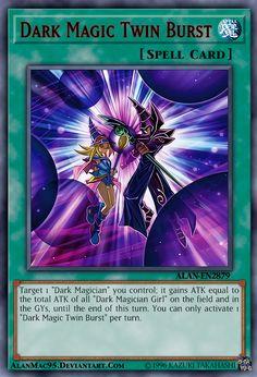 Dark Magic Twin Burst by on DeviantArt Yu Gi Oh, Dark Magician Cards, Custom Yugioh Cards, Pokemon Dragon, Yugioh Yami, Yugioh Collection, Monster Cards, Cool Deck, Magic Cards