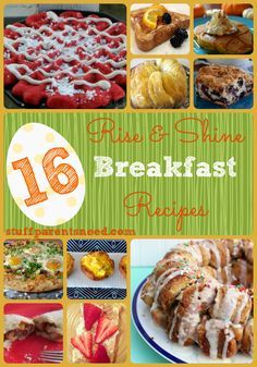 breakfast ideas and breakfast recipes for a great first meal of the day