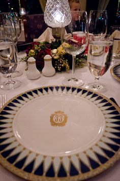 At Club 33 even the tableware is emblazoned with the 33 moniker.