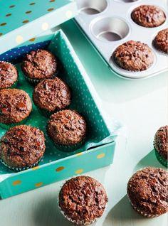 Muffins au son dans un pot Muffin Recipes, Baking Recipes, Snack Recipes, Dessert Recipes, Snacks, Healthy Muffins, Healthy Sweets, Healthy Baking, Dessert Ricardo