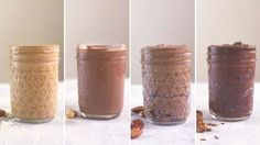 Go nuts (sorry, we had to) for four types of nut butter such as salted chocolate cashew, toasted coconut almond, dark chocolate hazelnut and more. Ingredients: 1 cup almonds, raw, 1 cup pecans, raw, 1/2 cup freeze-dried bananas, 1 tsp. ground cinnamon, 1 tsp. vanilla extract