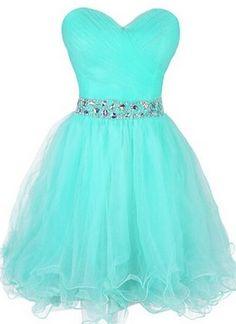 Lovely gauze sweetheart beads short waist homecoming/prom dress