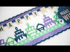 Happy Birthday Wishes, Diy Birthday, Birthday Cards, Scrapbook Borders, Scrapbook Cards, Cake Borders, Party Icon, Creative Memories, Scrapbooking Layouts