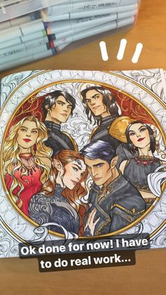 A Court of Thorns and Roses coloring book Sarah J Maas The Night Court crew- Feyre, Rhys/Rhysand, Morrigan/Mor, Amren, Cassian/Cass, Azriel/Az