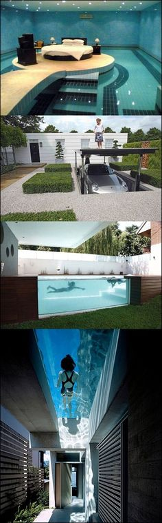 Omg if my house was like this i would die super izby, izby snov, c Future House, My House, Cool Pools, Awesome Pools, Awesome Beds, Dream Pools, Awesome Bedrooms, House Goals, Life Goals