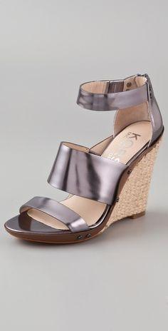 KORS Michael Kors Eliza Wedge Sandals - StyleSays