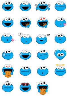 Cookie Monster Stickers For IPhone Cookie monster wallpaper Elmo wallpaper Monster stickers