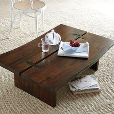 rustic coffee table west elm