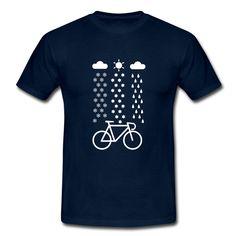 All Seasons Cyclist T-Shirts, Fahrrad T-Shirt - Männer T-Shirt